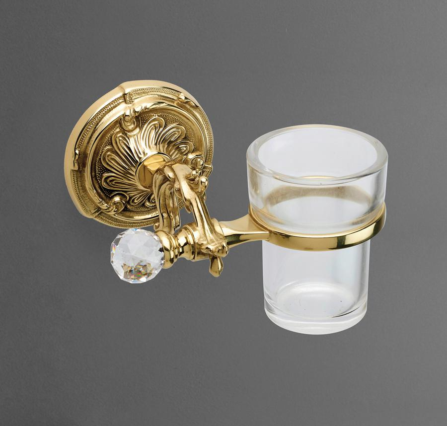 Стакан подвесной Art&Max BAROCCO CRYSTAL AM-1787-Do-Ant-C античное золото