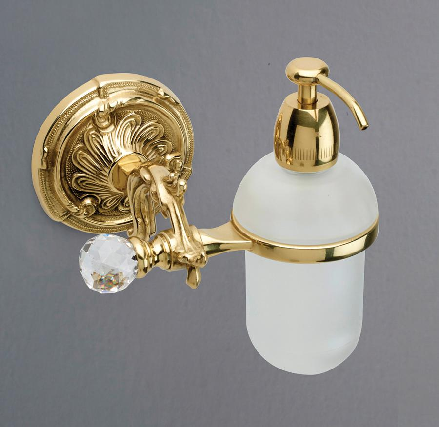 Дозатор для мыла подвесной Art&Max BAROCCO CRYSTAL AM-1788-Do-Ant-C античное золото